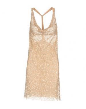 Короткое платье LA KORE. Цвет: телесный