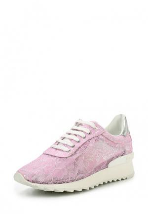 Кроссовки Casadei. Цвет: розовый