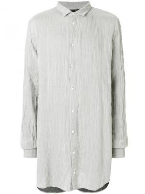 Удлиненная рубашка Poème Bohémien. Цвет: серый