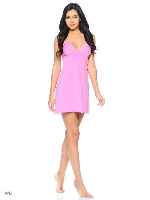Сорочка ночная Elli Dolli. Цвет: розовый