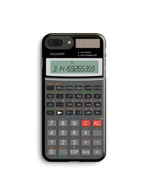 Чехол для iPhone 7 Plus Калькулятор Boom Case. Цвет: антрацитовый, серый