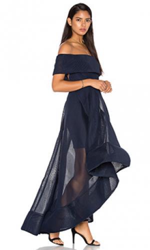 Макси платье tulip Bronx and Banco. Цвет: синий