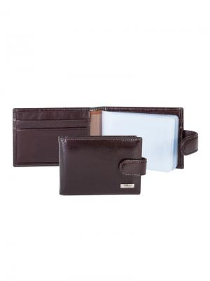 Футляр для карт с карманом Tirelli. Цвет: темно-коричневый