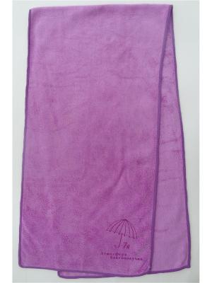 Полотенце для фитнеса A and C Collection. Цвет: фиолетовый