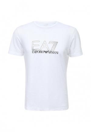 Футболка EA7. Цвет: белый