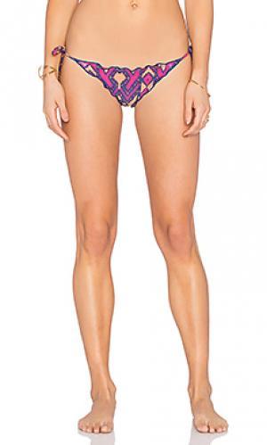 Плавки бикини с завязками по бокам Vix Swimwear. Цвет: розовый
