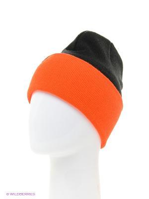 Шапка True Spin. Цвет: черный, оранжевый
