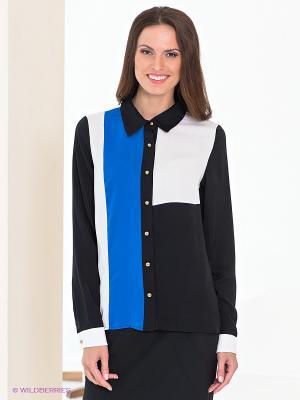 Блузка Acasta. Цвет: черный, синий, белый