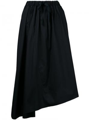 Асимметричная юбка Astraet. Цвет: чёрный