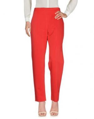 Повседневные брюки SEVERI DARLING. Цвет: красный