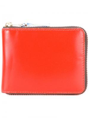 Кошелек дизайна колор-блок Comme Des Garçons Wallet. Цвет: жёлтый и оранжевый