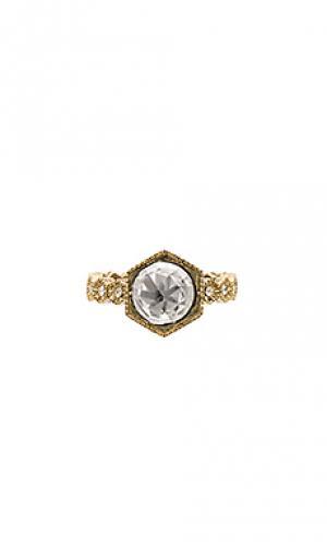Кольцо hex Luv AJ. Цвет: металлический золотой