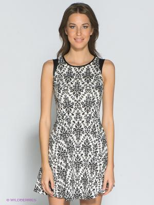 Платье Eunishop. Цвет: черный, белый