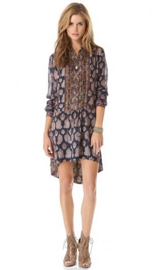 Флорентийское платье-туника Burning Torch. Цвет: мульти
