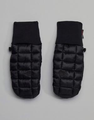 The North Face Черные варежки rmoball. Цвет: черный