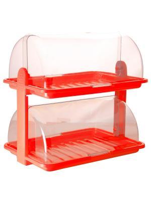 Хлебница двухъярусная Plastic Centre. Цвет: красный