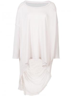 Прозрачная расклешенная блуза Raquel Allegra. Цвет: розовый и фиолетовый