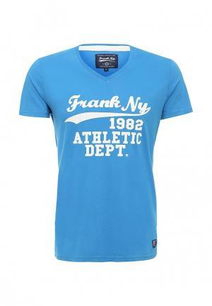 Футболка Frank NY. Цвет: голубой