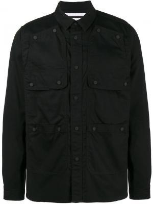 Куртка рубашечного кроя с карманами Ox White Mountaineering. Цвет: чёрный