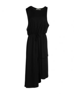 Платье до колена MARIA CALDERARA. Цвет: черный