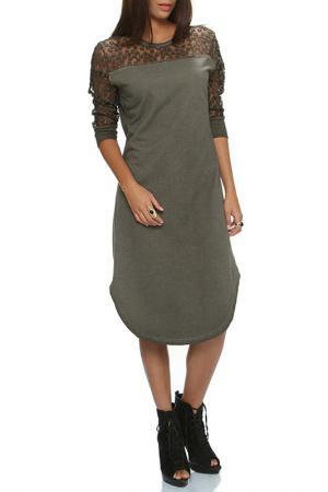 Платье BSL FASHION. Цвет: зеленый