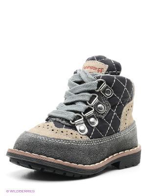 Ботинки Bebendorff. Цвет: серый, бежевый, черный