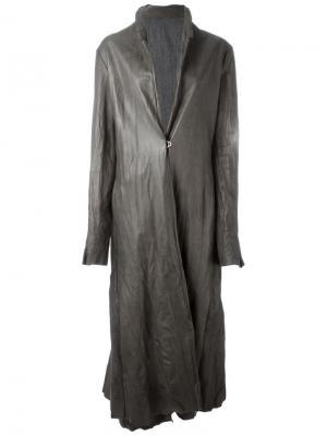 Удлиненное пальто Ma+. Цвет: серый