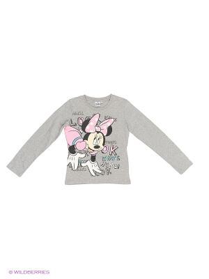 Лонгсливы Minnie Mouse. Цвет: серый меланж