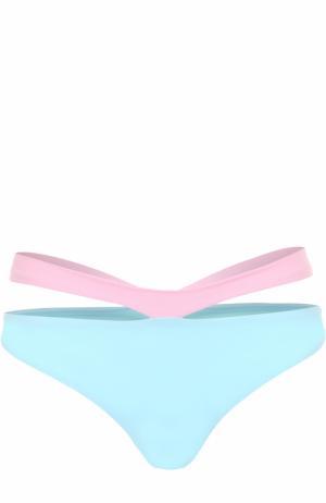 Плавки-бикини с декоративной отделкой NATAYAKIM. Цвет: разноцветный