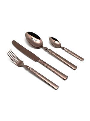 Набор столовых приборов 24 предмета CHOCOLATE Herdmar. Цвет: коричневый