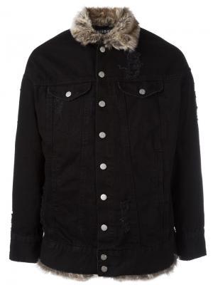 Джинсовая куртка с мехом Misbhv. Цвет: чёрный