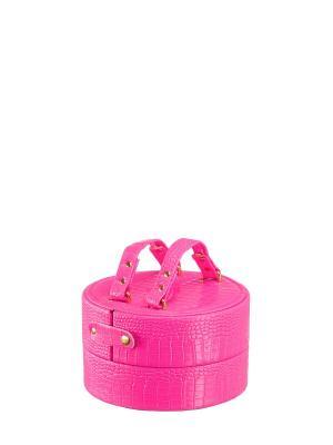Шкатулка S-813M искусственная кожа ПВХ Ismat. Цвет: розовый