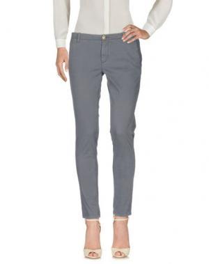 Повседневные брюки NO LAB. Цвет: свинцово-серый