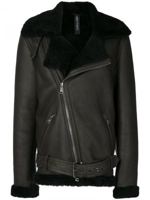 Пальто с меховой оторочкой Giorgio Brato. Цвет: зелёный