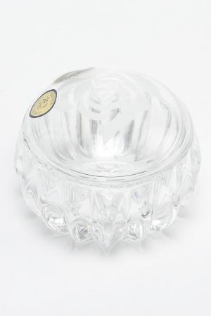 Доза-шкатулка, 7,6 см CRYSTAL BOHEMIA. Цвет: прозрачный