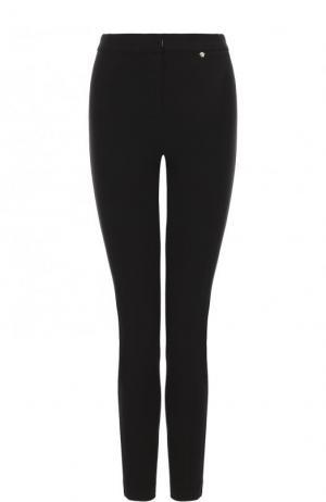 Укороченные однотонные брюки из вискозы Versace. Цвет: черный
