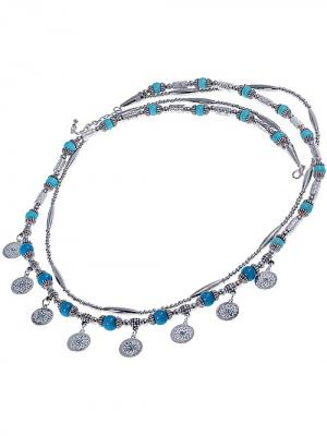 Бусы Chantal. Цвет: бирюзовый, серебристый, серо-голубой