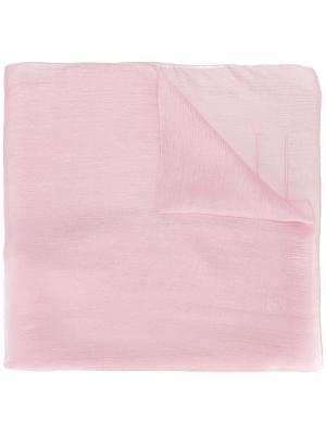 Шарф с вышитым логотипом Chanel Vintage. Цвет: розовый и фиолетовый