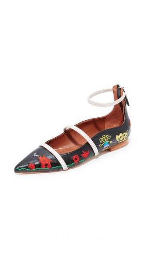 Обувь на плоской подошве Robyn Malone Souliers. Цвет: черный/светло-серый