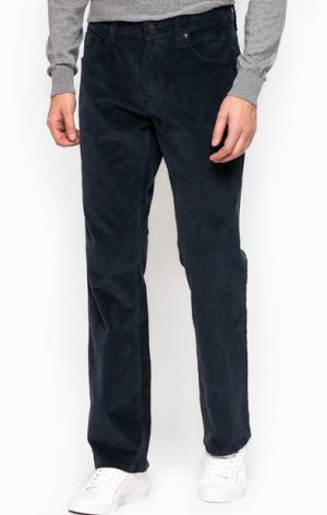 Синие зауженные вельветовые брюки Mavi. Цвет: синий