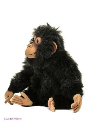 Шимпанзе,24см Hansa. Цвет: темно-коричневый