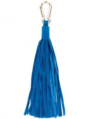 Брелок с кисточкой Antonia Zander. Цвет: синий