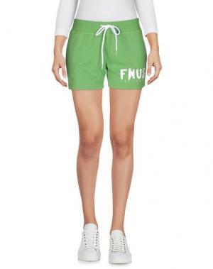 Повседневные шорты FOLLOW US. Цвет: светло-зеленый