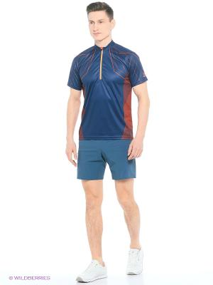 Футболка Running Loeffler. Цвет: синий, оранжевый