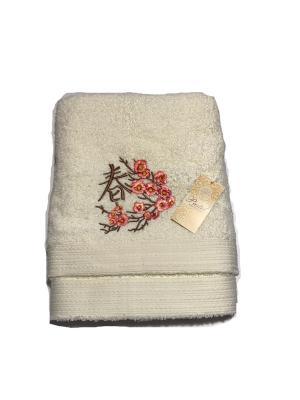 Комплект полотенец Сакура, 2 предмета. La Pastel. Цвет: молочный