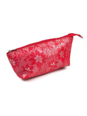 Косметичка из ткани DW-11-03 Лодочка, red Zinger. Цвет: красный