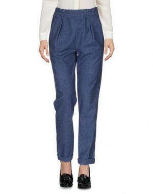 Повседневные брюки PF PAOLA FRANI. Цвет: грифельно-синий