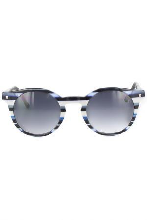 Очки солнцезащитные Byblos. Цвет: сине-белый