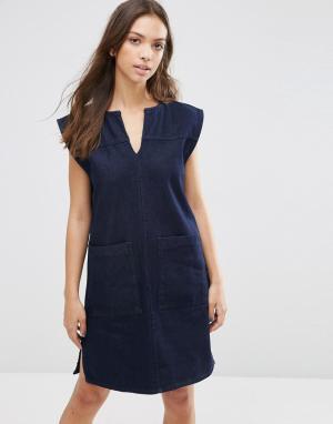 Waven Джинсовое платье Izabel. Цвет: синий