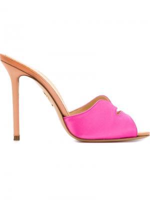 Мюли Kiss My Feet Charlotte Olympia. Цвет: розовый и фиолетовый